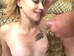 Pregnant babe gets double cumload